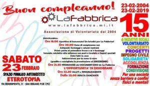 23.02.2019 – 15 anni de LaFabbrica @ Eterotopia