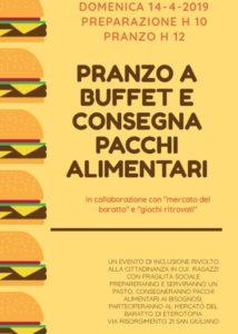 Pranzo sociale + Distribuzione pacchi alimentari  // 14 Aprile 2019 @ Eterotopia