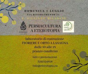 Sinergic Lab all'orto Eterotopico @ Eterotopia
